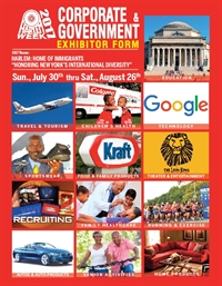 HARLEM WEEK 2017 Corporate/ Government Exhibitor Form