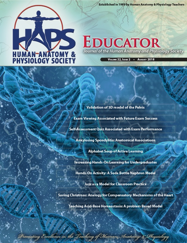 Current Issue of HAPS Educator - Human Anatomy and Physiology Society
