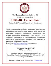 HBA-DC Career Fair at the 20th Annual Hispanic Law Conference