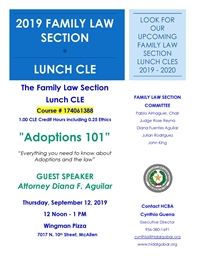 Family Law Section Lunch CLE