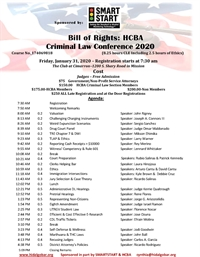 2020 Bill of Rights: HCBA Criminal Law Conference 1-31-2020