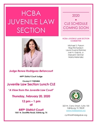 HCBA Juvenile Law Section