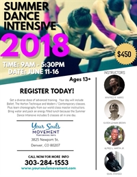 Your Soul's Movement Summer Dance Intensive