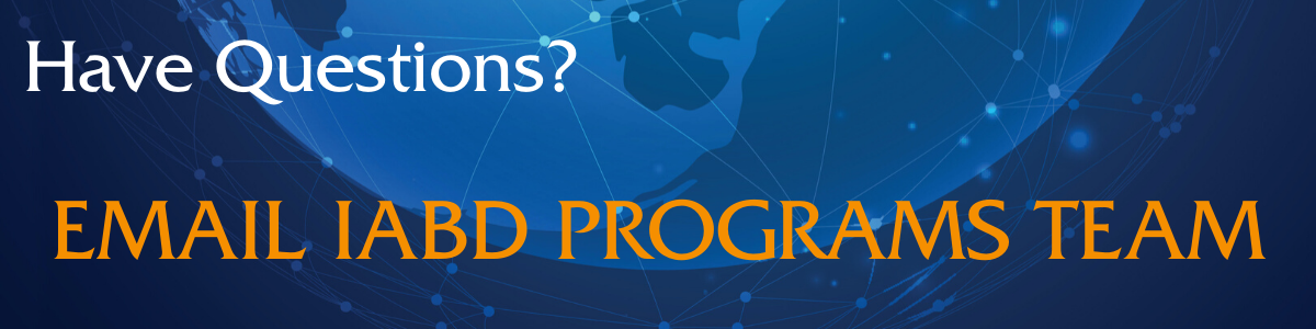 Have Questions? Contact IABD Programs