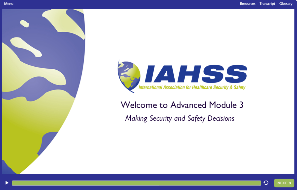 Elearning International Association For Healthcare Security And Safety