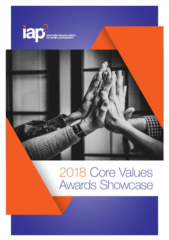 2018 IAP2 Core Values Awards Showcase Document Cover
