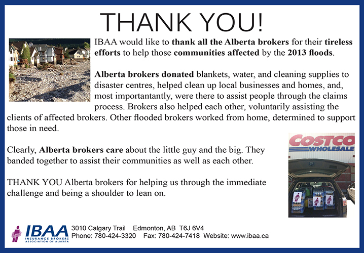 Thank you, Alberta brokers, for your assistance