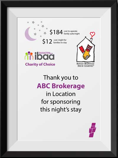 IBAA Charity Drive for Ronald McDonald House