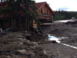 historic building in Bragg Creek - 2013 Southern Alberta flood