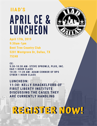 CE & April Luncheon