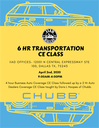 CANCELLED- Chubb Transportation 6 Hr CE Class