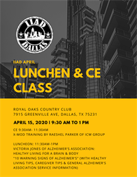 CANCELLED- April Luncheon & CE