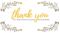 CSR/Account Manager Appreciation Event