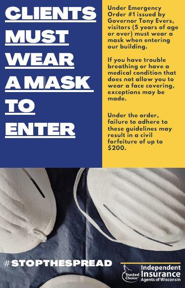 Agency Sign Must Wear a Mask