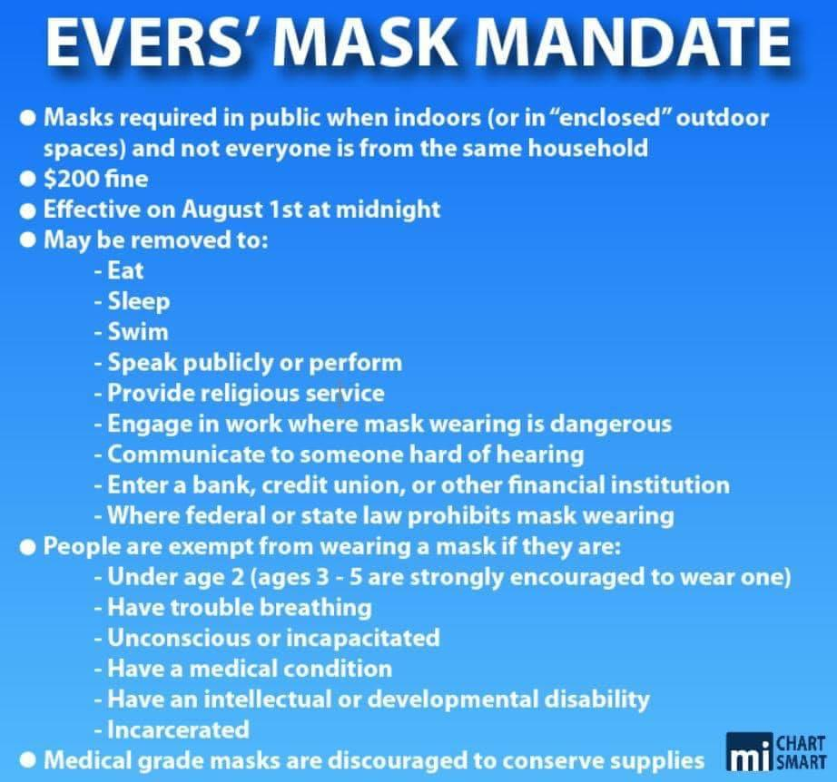 Evers Mask Mandate