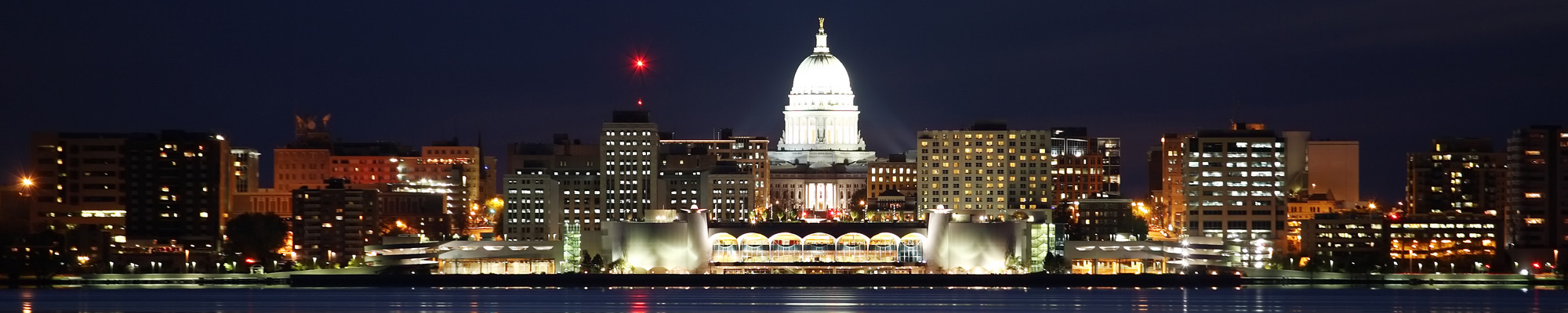 Madison Skyline at Night/Dusk