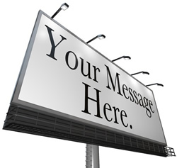 billboard that says your message here