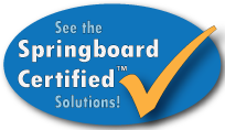 see the springboard solutions oval with checkmark