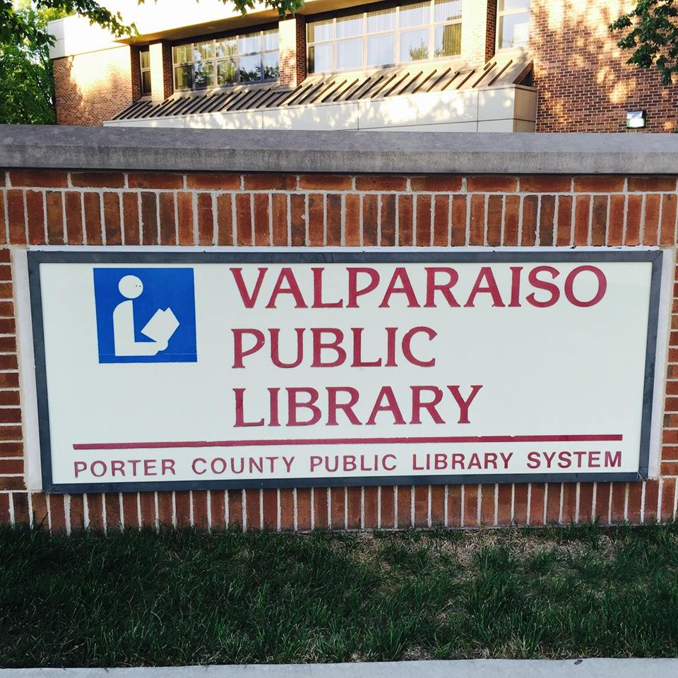 Valparaiso Public Library sign