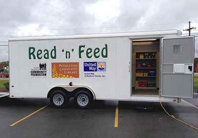 Pendleton Community Library Read'n'Feed truck