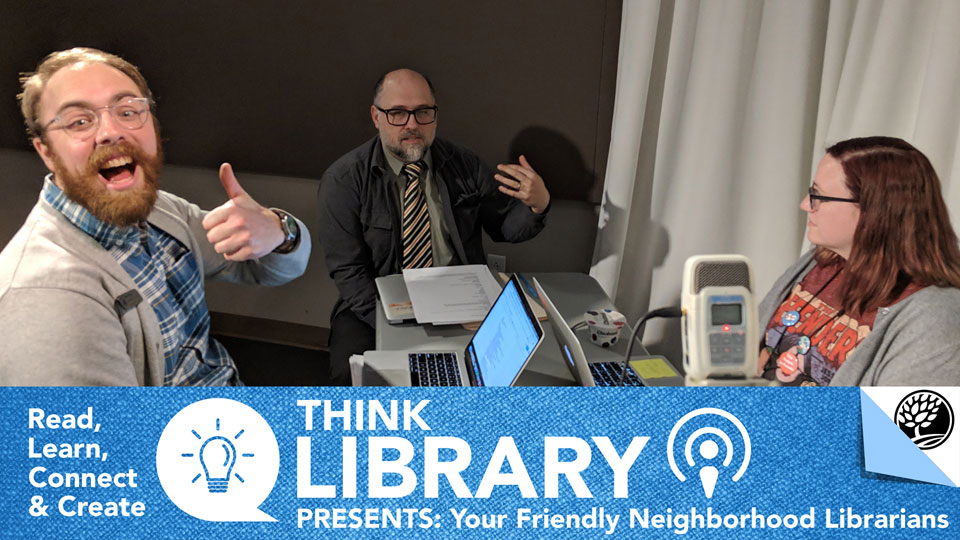 Monroe County Public Library podcast crew