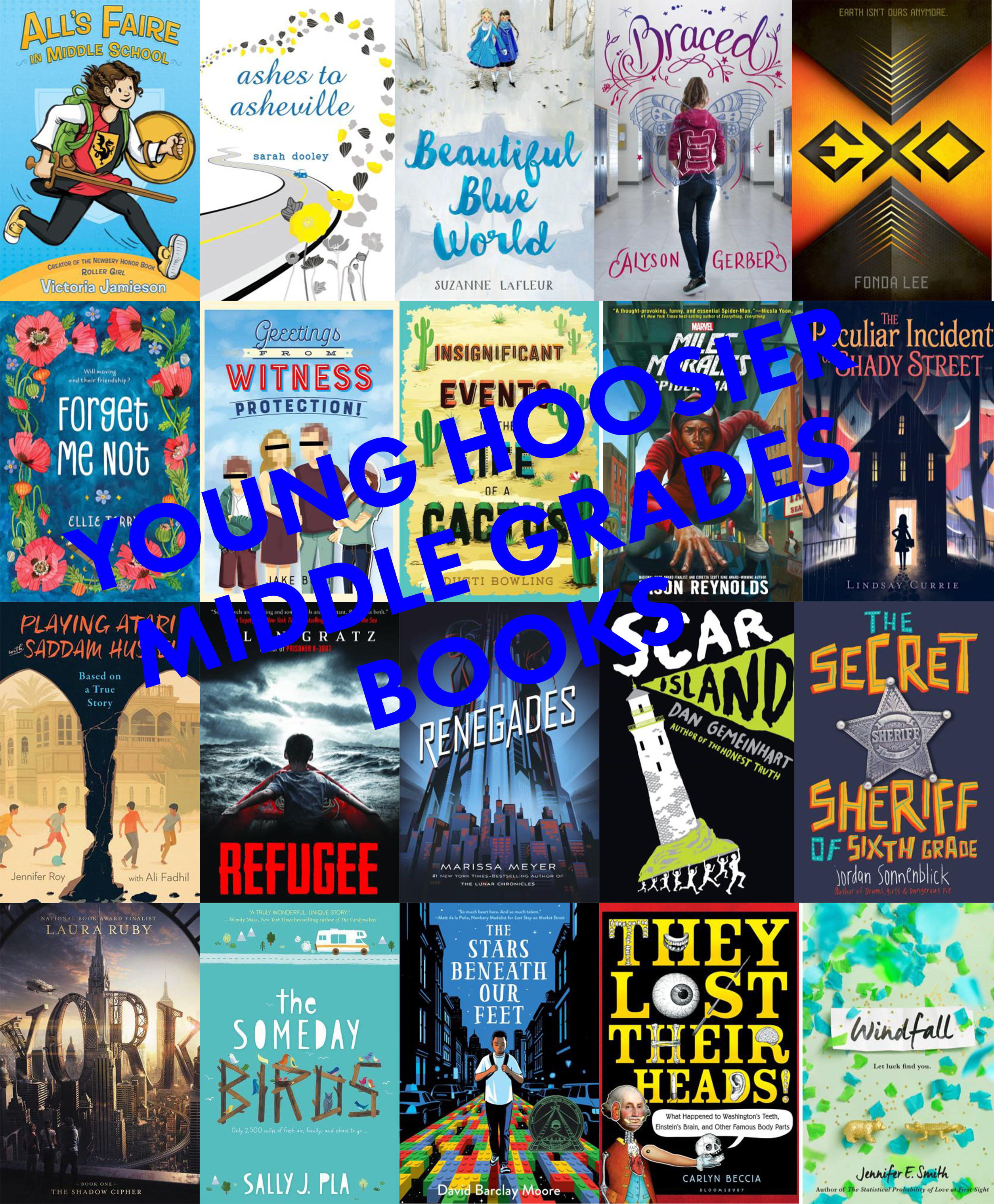 YHBA Middle Grades Book Covers