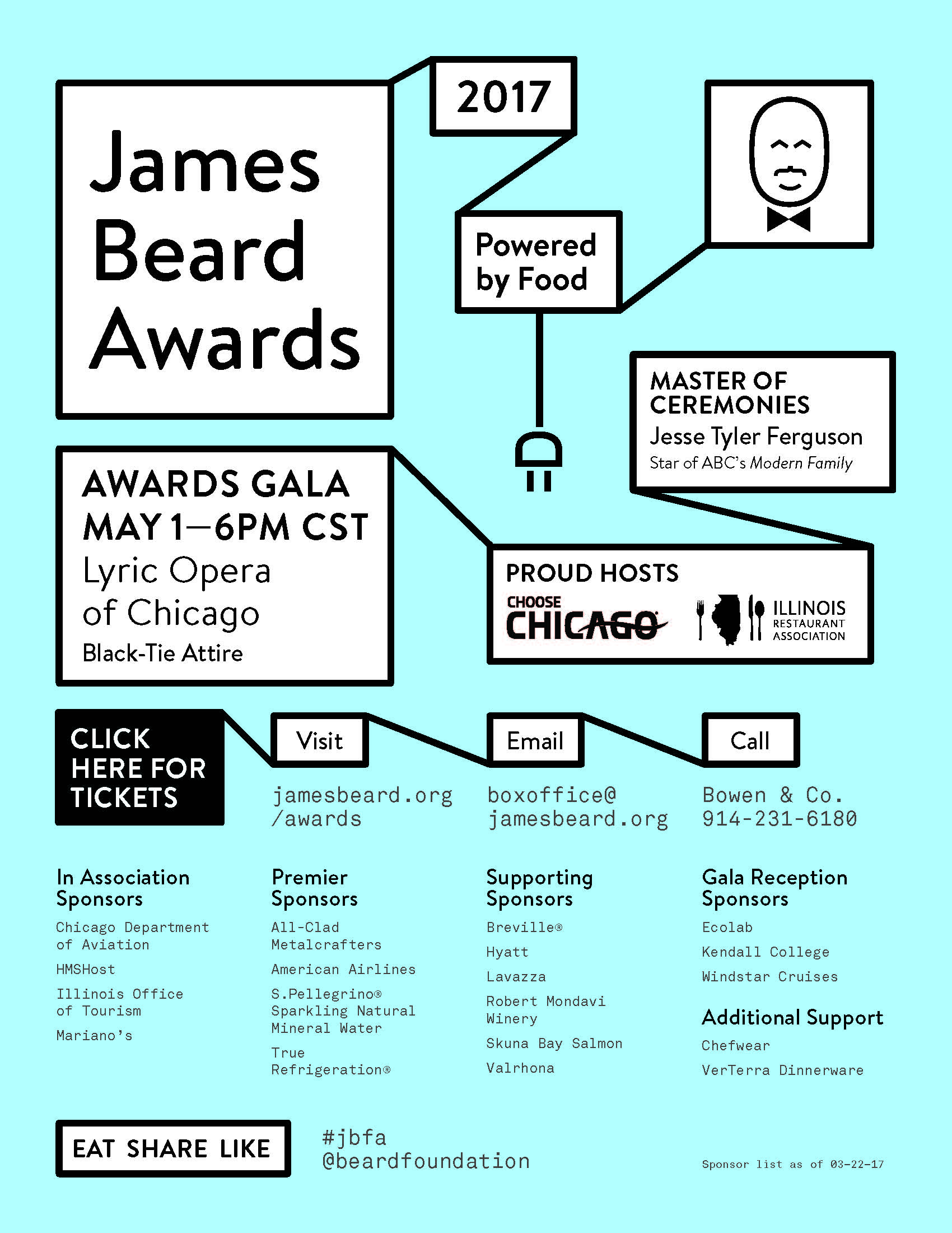 2017 james beard awards illinois restaurant association the 27th anniversary of the james beard awards commonly known as the oscars of the food industry are coming to the lyric opera of chicago for the third xflitez Images
