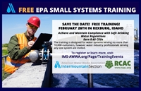 FREE Small Systems Operator Workshop - Rexburg, ID