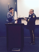 R64 member Dan Pue being sworn in as Chief of Live Oak, TX PD