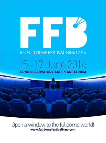 Poster for IPS Fulldome Festival Brno