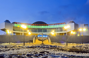 The new Novosibirsk planetarium, Russia