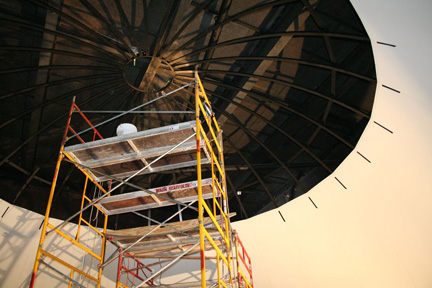 installing new dome