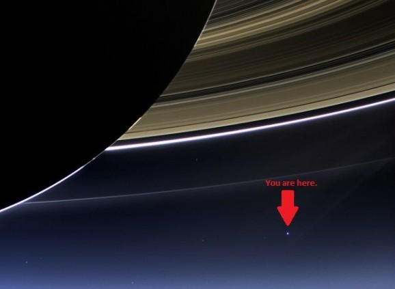 Saturn with Earth