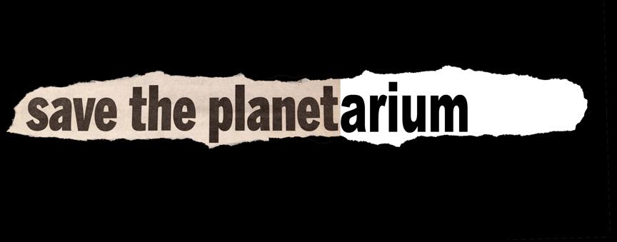 Save the Planetarium graphic