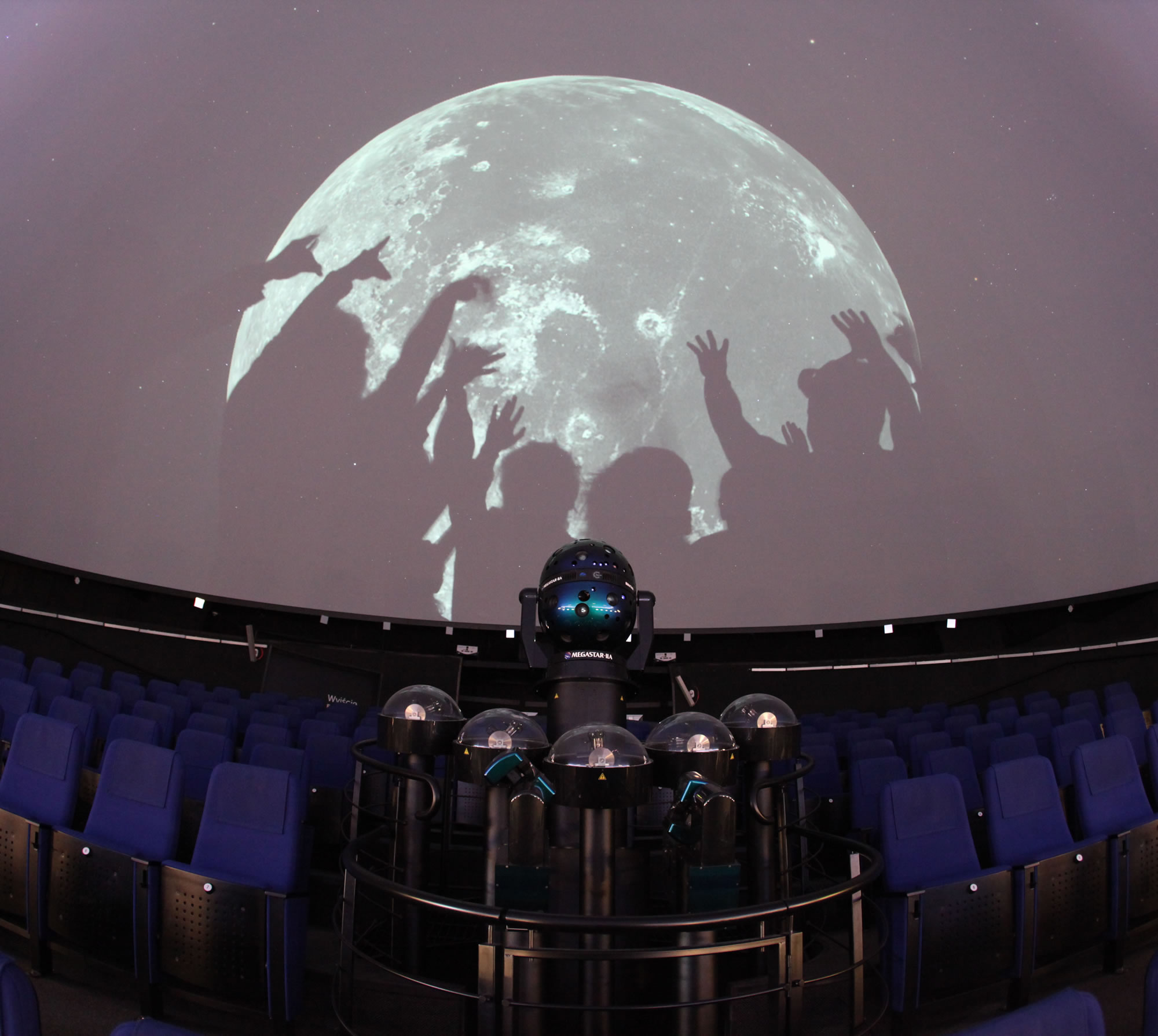 inside Heavens of Copernicus planetarium