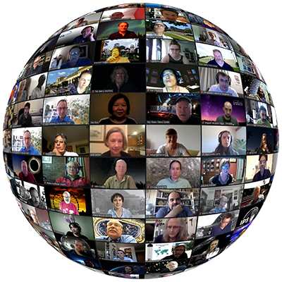 Image: screen capture of the IPS Virtual Conference zoom session showing a number of attendees