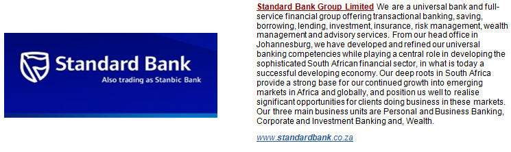 Standard bank forex department