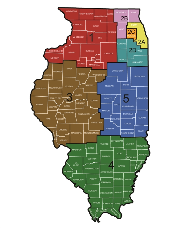 District Map - Illinois Section American Water Works Association