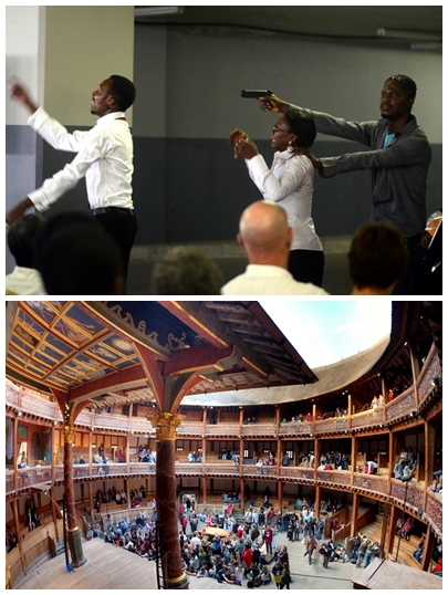 (Top: The Waiting Room; Bottom: Shakespeare's Globe)