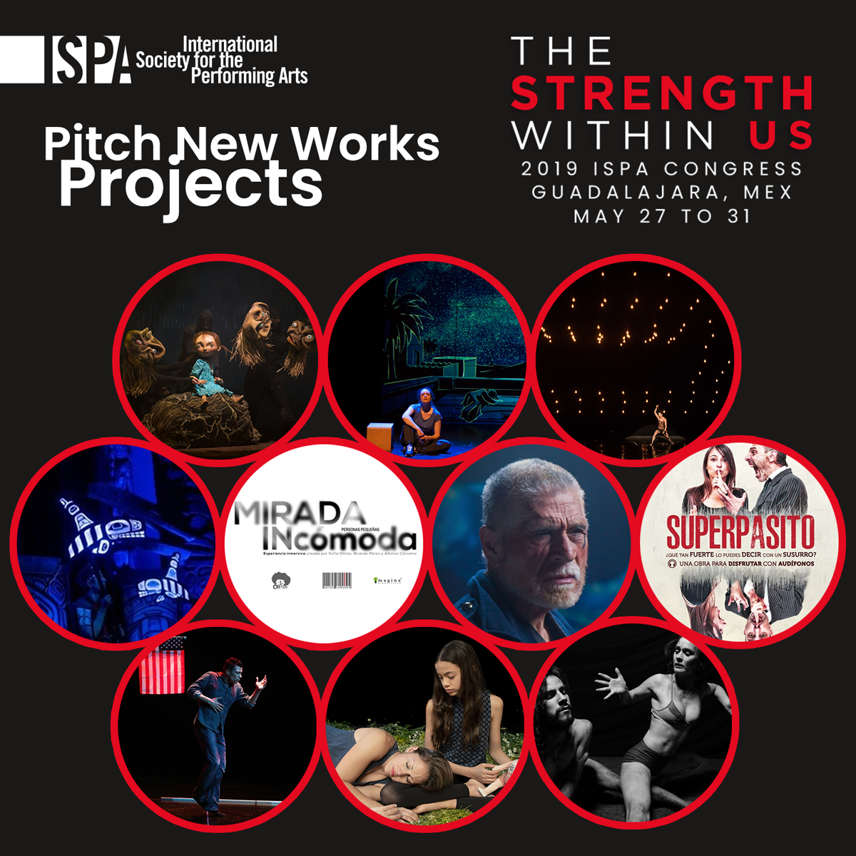Pitch New Works Projects for the Guadalajara 2019 ISPA Congress