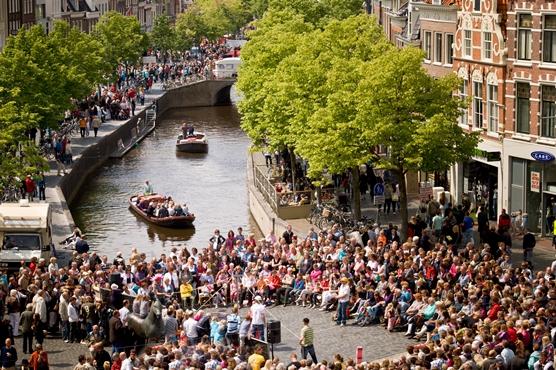 Photo of a street festival in Leeuwarden-Friesland