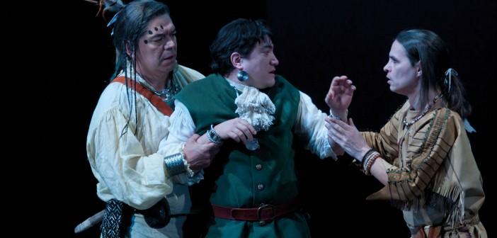 King Lear: Lorne Cardinal, Kevin Loring, Gordon Patrick White © Andree Lanthier