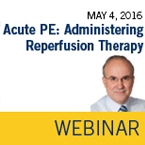 ISTH Academy Webinar: Acute PE: Administering Reperfusion Therapy