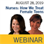 ISTH Nurses Webinar: How We Treat Female Teens