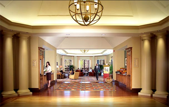 Lake level foyer