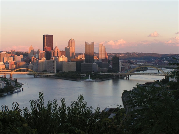 Pittsburgh at sunset