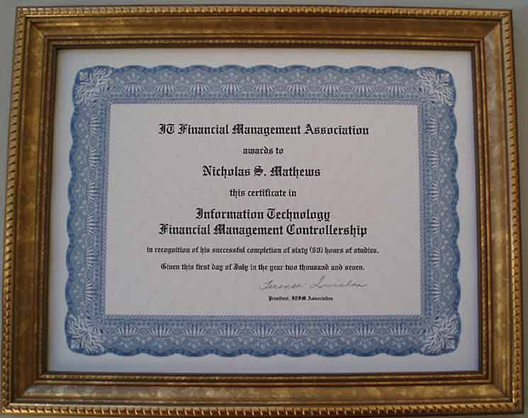 2013savannahconferencecertification It Financial Management