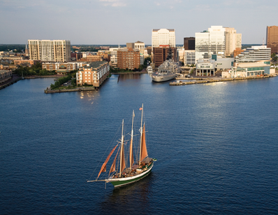 Norfolk, VA Aerial View