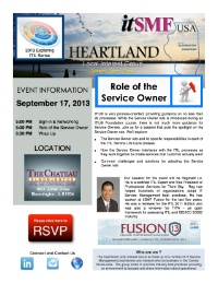 Heartland LIG | Role of the Service Owner