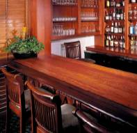 This bar is crafted from bubinga and wenge.